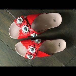 Fendi flower used sandal